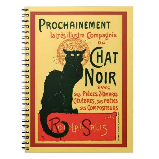 Tournée du Chat Noir, Théophile Steinlen Spiral Notebook