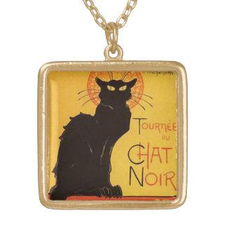 Tournée du Chat Noir, vintage del gato negro de Collar Dorado