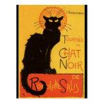 Tournée du Chat Noir, vintage del gato negro de Postales