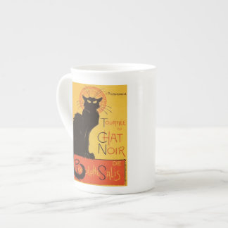 Tournée du Chat Noir, vintage del gato negro de St Taza De Porcelana