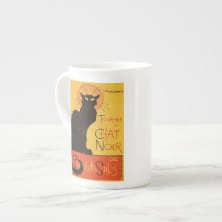 Tournée du Chat Noir vintage del gato negro de St Tazas De Porcelana