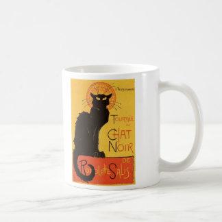 Tournée du Chat Noir, vintage del gato negro de Taza Básica Blanca