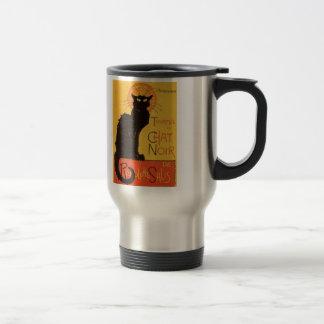 Tournée du Chat Noir, vintage del gato negro de Taza Térmica
