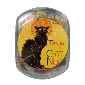 Tournée du Chat Noir - Vintage Poster Glass Candy Jars