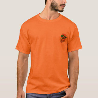 Tourney Logo Orange Cotton Tshrit T-Shirt