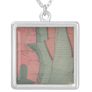 Tourtelotte Park Mining District Sheet Map Silver Plated Necklace