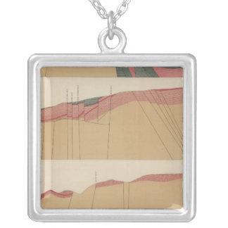 Tourtelotte Park Special Sheet Map Silver Plated Necklace