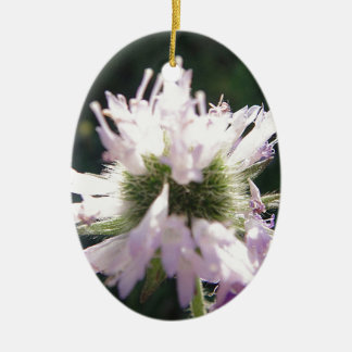 Tousled purple bloom ball christmas ornaments