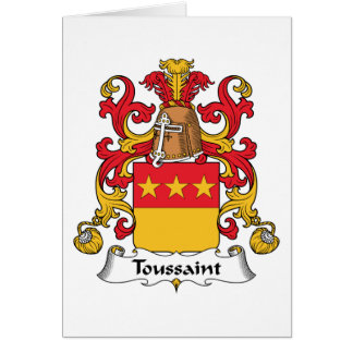 Toussaint Family Crest Greeting Cards