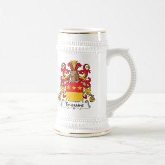 Toussaint Family Crest Mugs