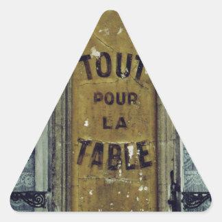 Tout Pour la Table Triangle Sticker