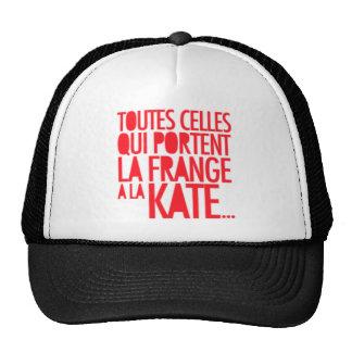 Tout Qui Porte La Fringe A La Kate Moss Trucker Hat