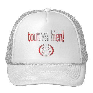 Tout va Bien! Canada Flag Colors Trucker Hats
