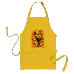Toutankhamon gold mask watercolor adult apron