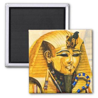 Toutankhamon gold mask watercolor magnet