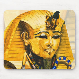 Toutankhamon gold mask watercolor mouse pad