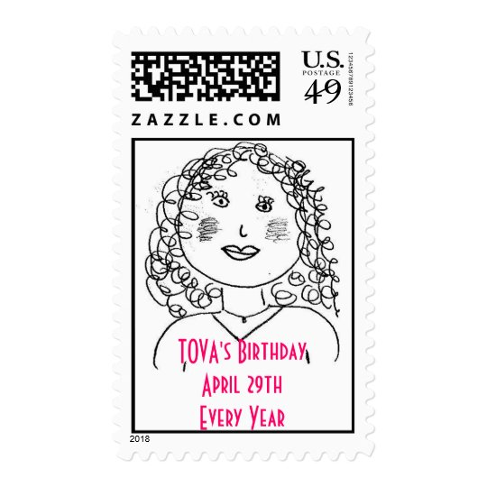 Tova's Birthday Stamp