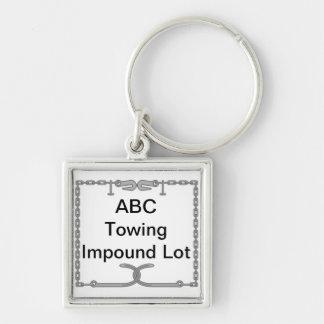 Tow Company Impound Lot Key Identifier Keychain