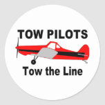 Tow Pilots Tow the line Stickers