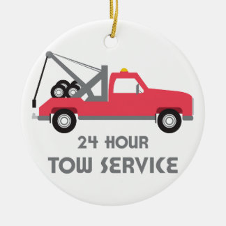 Tow Service Ceramic Ornament