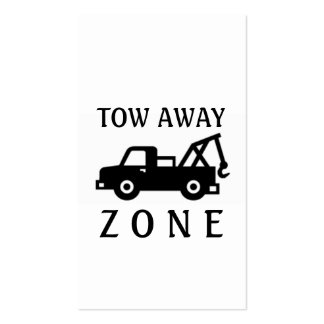 Tow Towing Truck Away Zone Double-Sided Standard Business Cards (Pack Of 100)