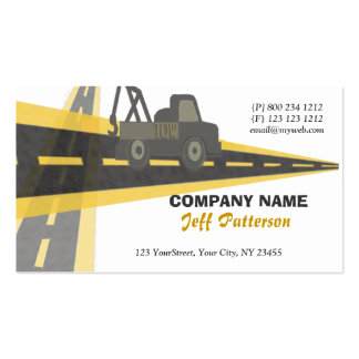 Tow Truck Automotive On The Road Travel Double-Sided Standard Business Cards (Pack Of 100)