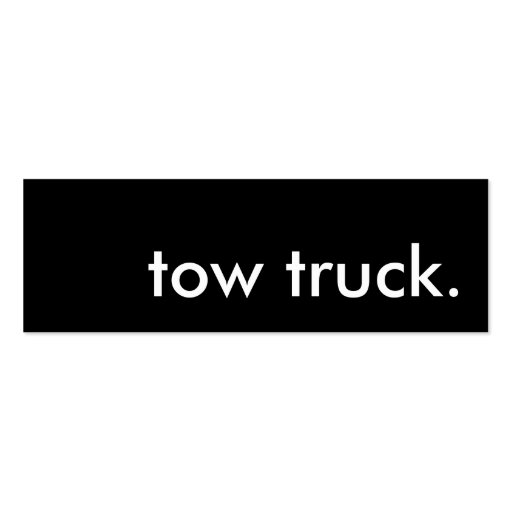 tow truck. business card