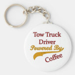 Tow Truck Driver Powered By Coffee Basic Round Button Keychain