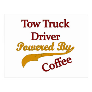 Tow Truck Driver Powered By Coffee Postcard