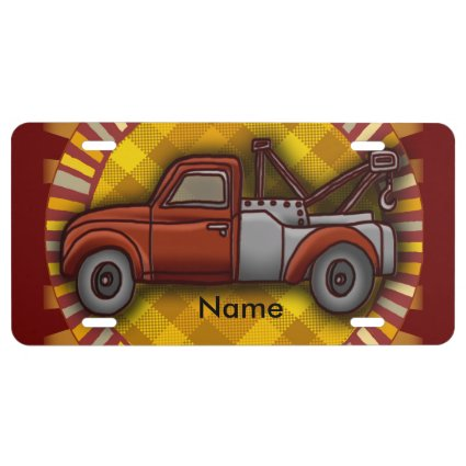 Tow Truck License Plate License Plate