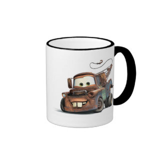 Tow Truck Mater Smiling Disney Ringer Coffee Mug