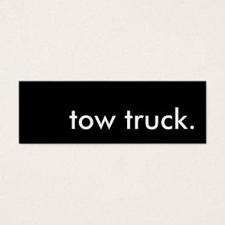 tow truck. mini business card