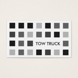 TOW TRUCK (mod squares) Business Card