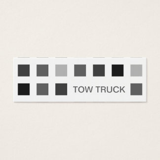 TOW TRUCK (mod squares) Mini Business Card