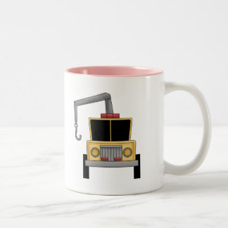 Tow Truck Two-Tone Coffee Mug