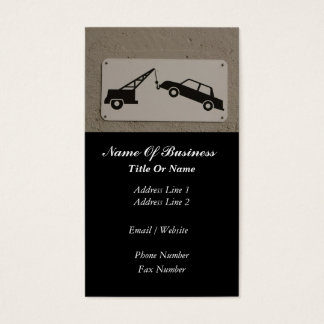 Tow Truck Services Business Card