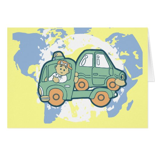 Tow Truck T-shirts and Gifts Greeting Card