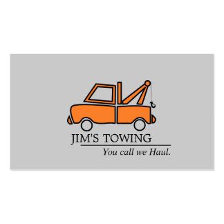 Tow Truck Towing Road Service Double-Sided Standard Business Cards (Pack Of 100)