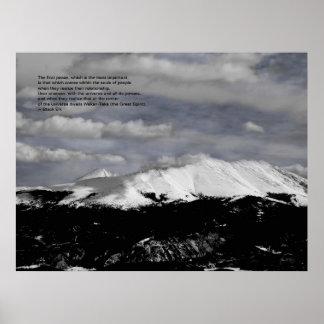 Toward Keystone: Black Elk Quote Poster
