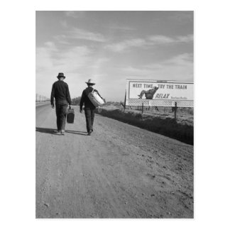 Toward L.A. - 1937 Postcard