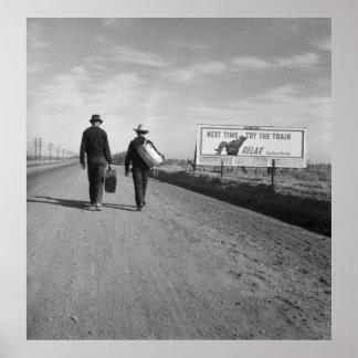 Toward L.A. - 1937 Print