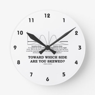Toward Which Side Are You Skewed? Skewness Stats Round Clock