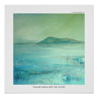 Towards Samson Hill, Isles of Scilly Poster