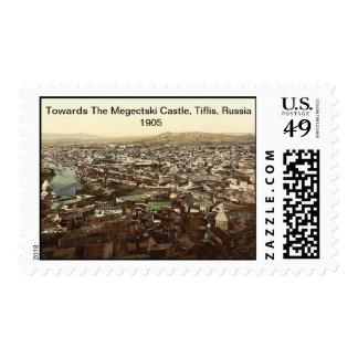 Towards The Megectski Castle, Tiflis, Russia 1905 Postage