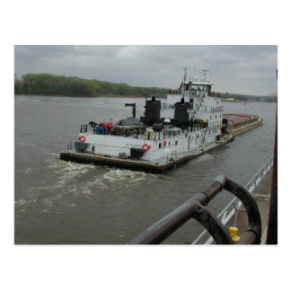 Towboats on the Mississippi Postcard