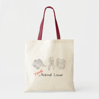 Towel Animal Lover Canvas Bag