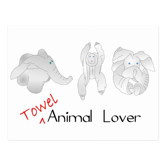 Towel Animal Lover Postcard
