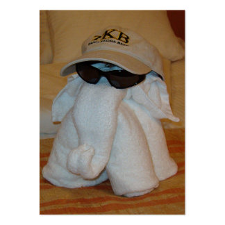 Towel Elephant with Sunglasses Business Card
