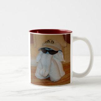 Towel Elephant with Sunglasses Mugs