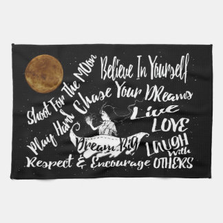 towel  Inspirational Quote Stars @ Night Dreams